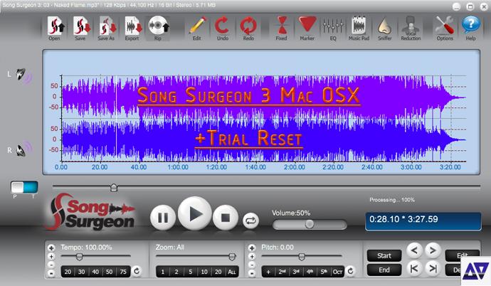 Download Song Surgeon 3 Mac OSX + Trial Reset method » AudioZ
