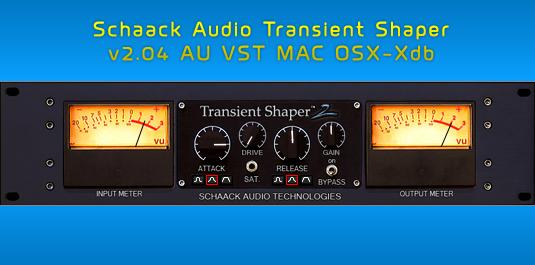 schaak audio transient shaper v2.02 vst au mac osx ub