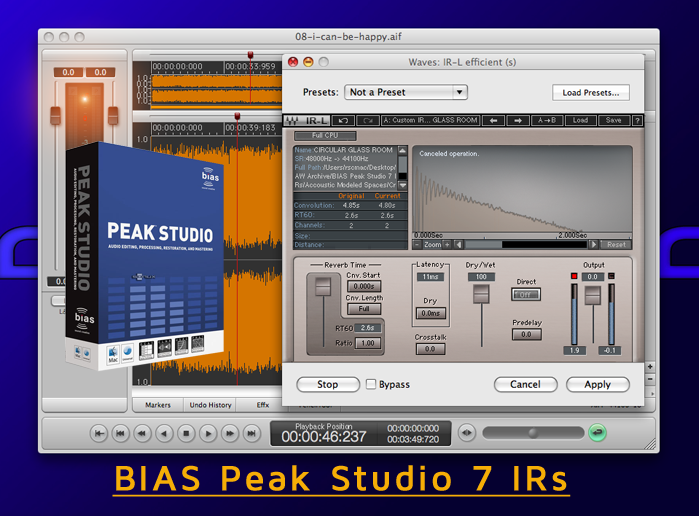 Download BIAS Peak Studio 7 IRs - ( Impulse / Responses ) » AudioZ
