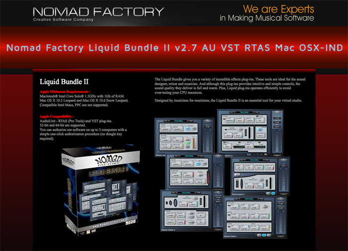 Download Nomad Factory Liquid Bundle II v2 7 AU VST RTAS Mac