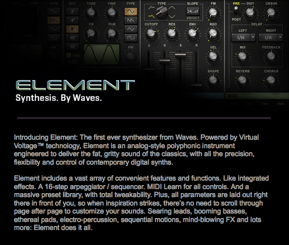 Download Waves Element v9 2 4 16 Build 2304 Mac OSX-Xdb » AudioZ