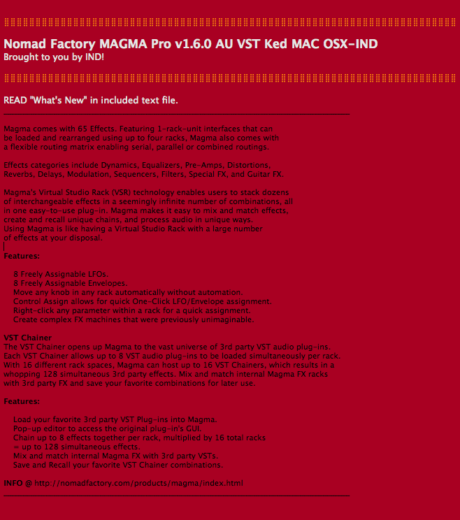 nomad factory magma serial number