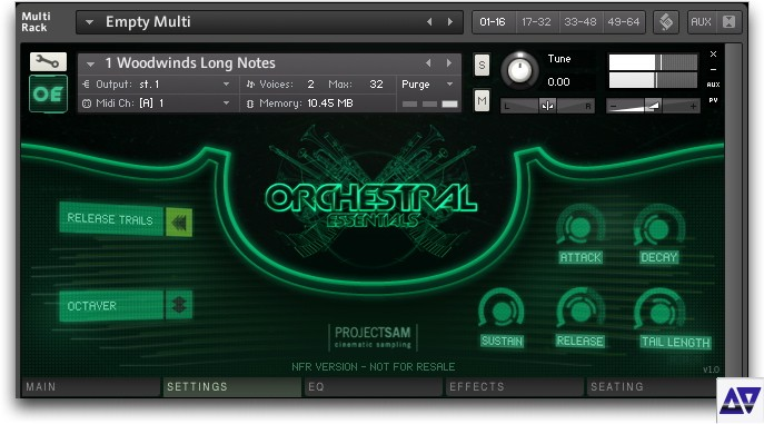 Project sam: orchestral essentials v1. 1 part 2 multis youtube.