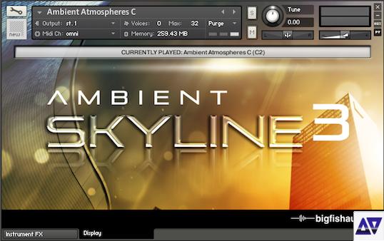 Download big fish audio ambient skyline 3 kontakt audioz for Big fish audio