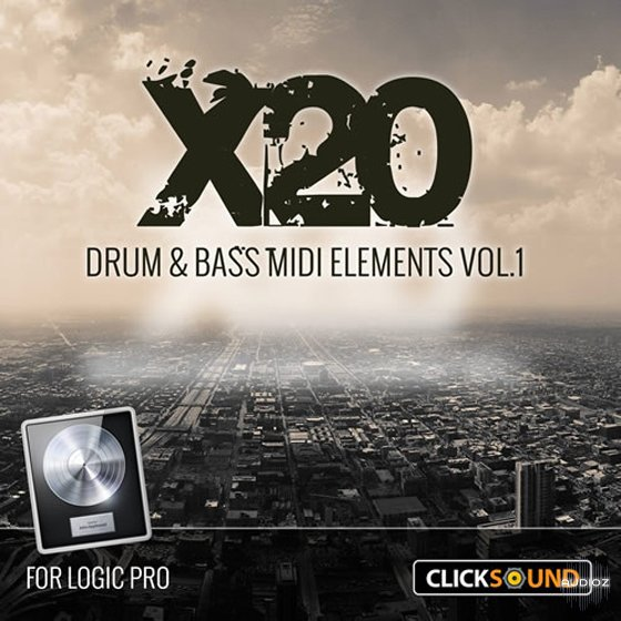 Download Clicksound X20 Drum and Bass MIDI Elements Vol 1