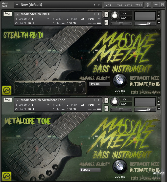 kontakt bass metal