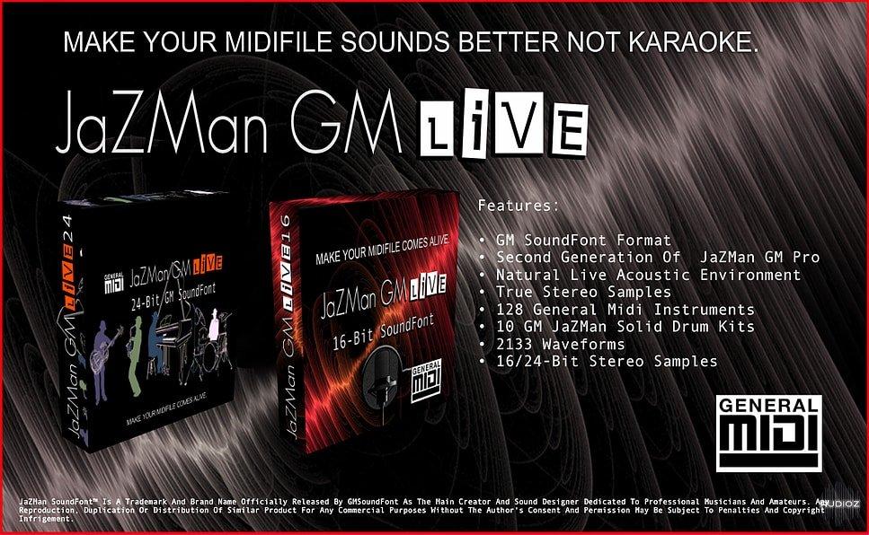 REQ: JaZMaN GMLiVE SoundFont (16-bit/24-bit) » AudioZ