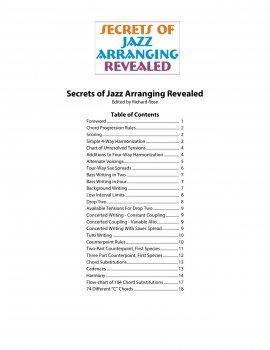 Secrets of Jazz Arranging Revealed screenshot
