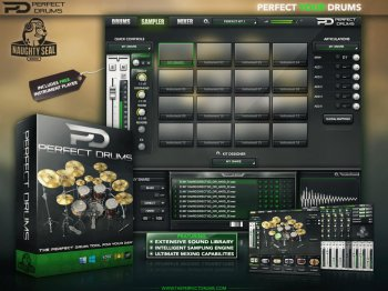 Naughty Seal Audio Perfect Drums WiN/OSX iNSTALLERS incl. Library UNCRACKED + TCI Pack screenshot