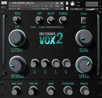 Red Sounds VOX Engine 2 KONTAKT screenshot