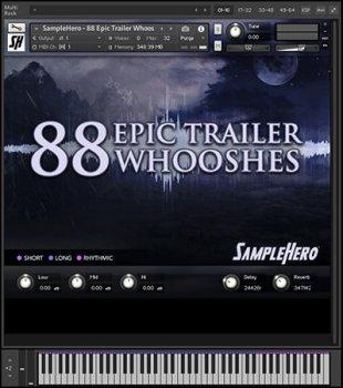 SampleHero 88 Epic Trailer Whooshes KONTAKT screenshot