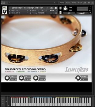 SampleHero Recording Combo Tambourine KONTAKT screenshot