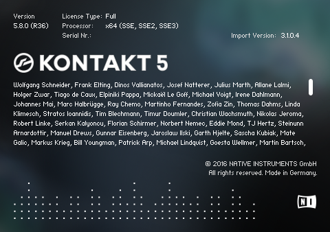 native instruments kontakt 5.6 1 + keygen