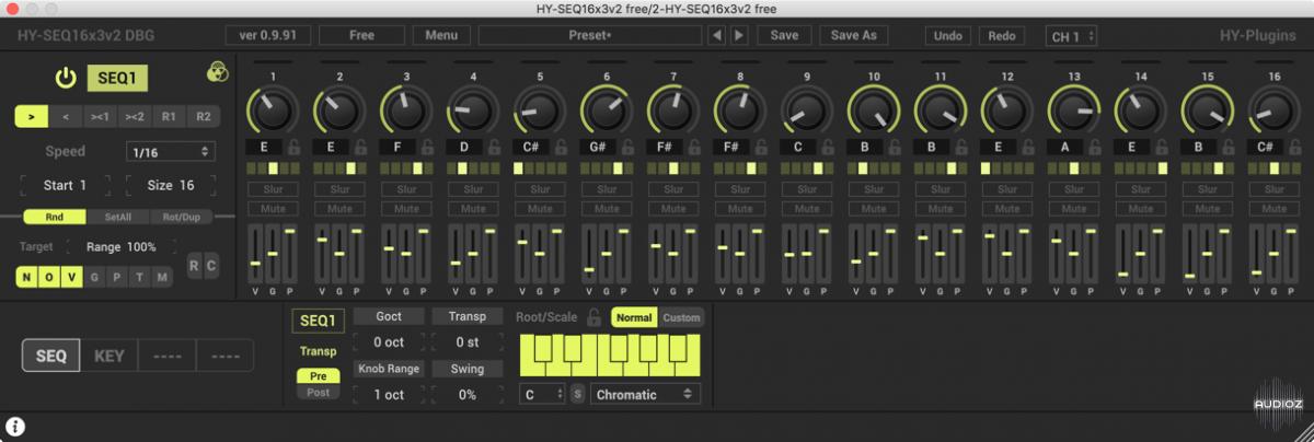 Download HY-Plugins HY-SEQ16x3v2 Free Version x64 x86 VST AU