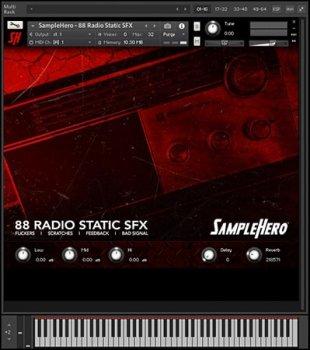 SampleHero 88 Radio Static SFX KONTAKT screenshot