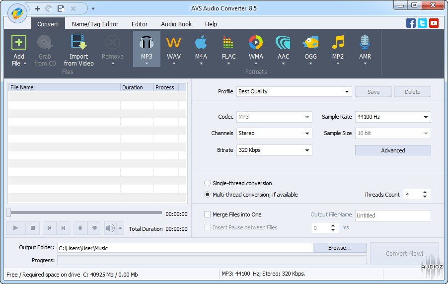 avs audio converter free download