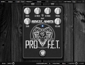 Ignite Amps : ProF.E.T v1.0 WiN OSX [FREE] screenshot
