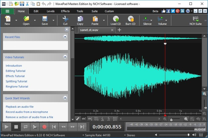 Download NCH WavePad Sound Editor Masters Edition 8 36 incl