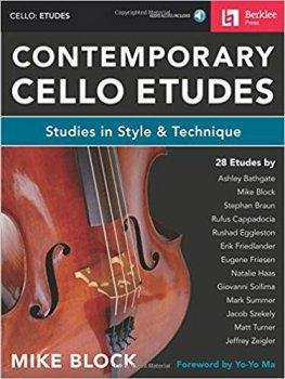 Mike Block Contemporary Cello Etudes Studies in Style & Technique PDF screenshot
