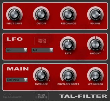 Togu Audio Line TAL-Filter v2.2.1 x64 x86 VST AU AAX WiN MAC [FREE] screenshot
