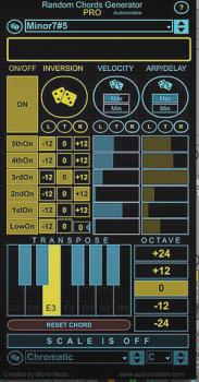 Audiomodern Random Chords Generator Pro Max for Live-SYNTHiC4TE screenshot