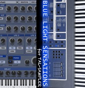 GPR Music Project - Blue light sensations - TAL Sampler Library screenshot