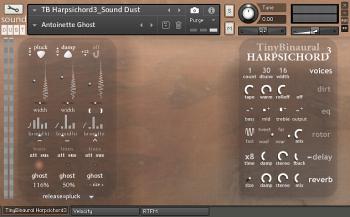 Sound Dust Tiny Binaural Harpsichord³ KONTAKT screenshot