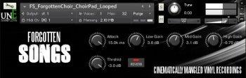unEarthed sampling: Forgotten Songs - Kontakt screenshot