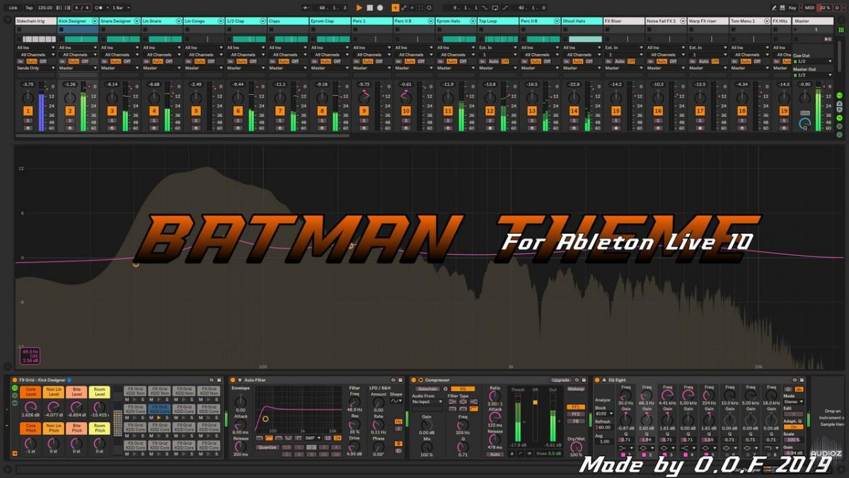 Download The Batman Theme New Dark Skin for Ableton Live