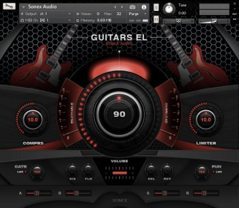 Sonex Audio Electric Guitars KONTAKT screenshot