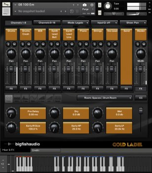 Big Fish Audio Gold Label: Hip Hop and RnB KONTAKT screenshot