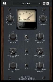 Audiority TS-1 Transient Shaper v1.2.3 VST AU AAX MAC/WiN screenshot