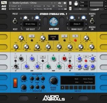 Audio Animals Studio Cymbals v2 China WAV x64 x86 VST AU WiN MAC KONTAKT [FREE] screenshot