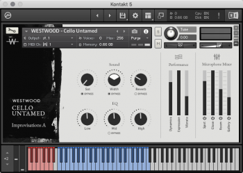 WESTWOOD Cello Untamed KONTAKT screenshot