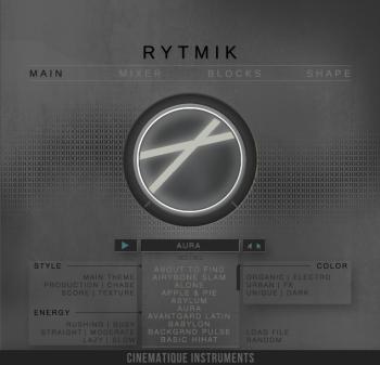 Cinematique Instruments Rytmik KONTAKT screenshot