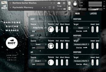 Riot Audio Baritone Guitar Washes KONTAKT screenshot