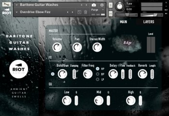 Riot Audio Baritone Guitar Washes KONTAKT screenshot
