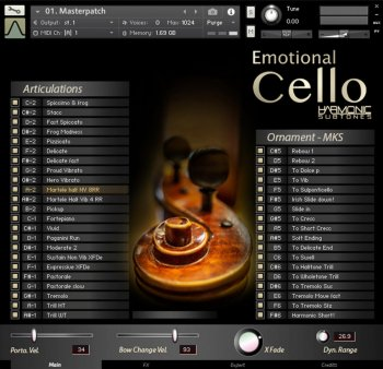 Best Service Emotional Cello v1.5 KONTAKT screenshot